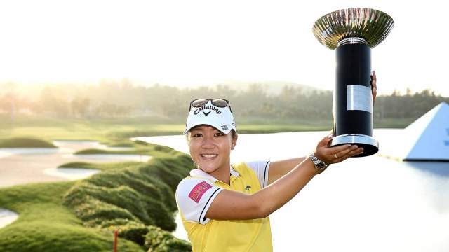 Lydia Ko with the Fubon LPGA Taiwan Championship Trophy